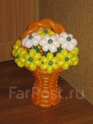 Как сделать большую корзину из шаров