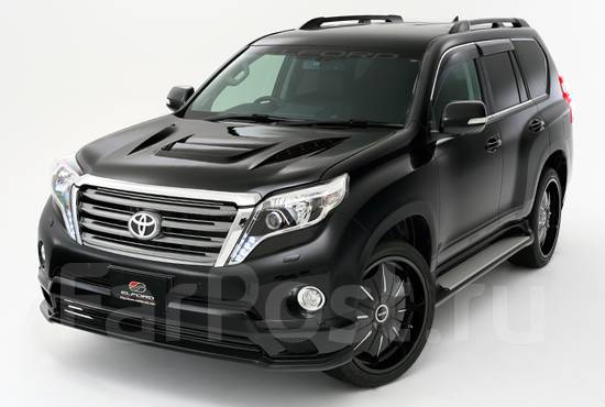 Передняя губа elford для toyota land cruiser prado 150