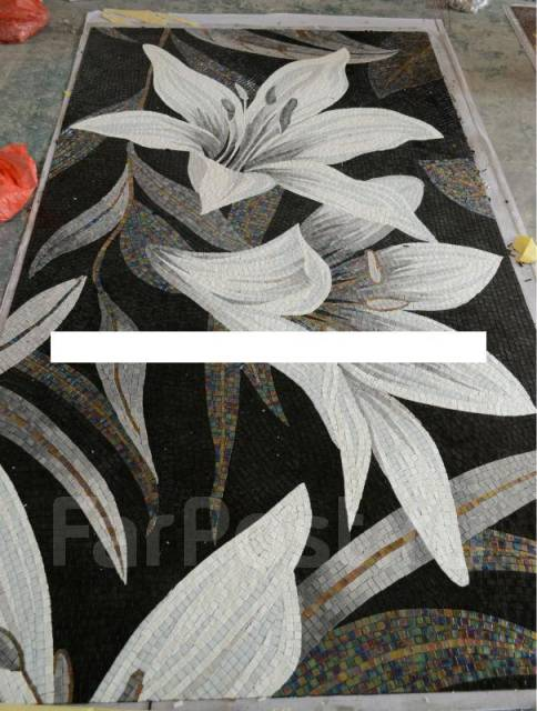 Мозаика панно цветы в хабаровске