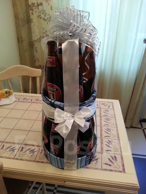 Как сделать подарок из бутылок пива 6