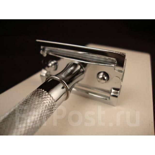 Класическая бритва Merkur, фрг, хром, рез прямой. Под заказ
