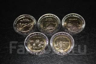 """Набор монет 5шт. Аргентина 2010г. биметалл. """"Парки Аргентины""""."""