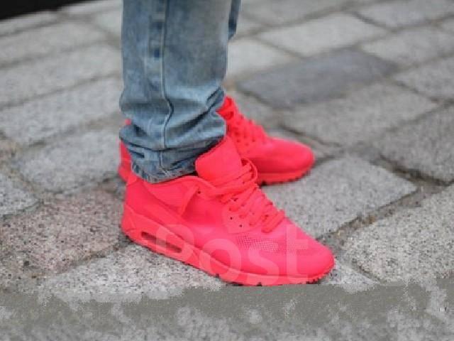 Яркие, розовые кроссовки Nike Air Max 90 Hyperfuse размер 35,36 ...