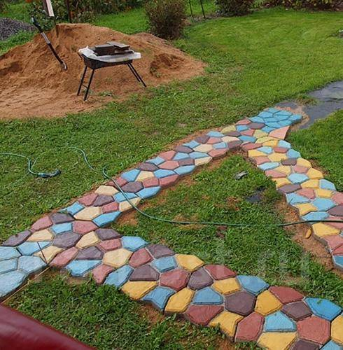 Форма для садовой дорожки своими руками видео