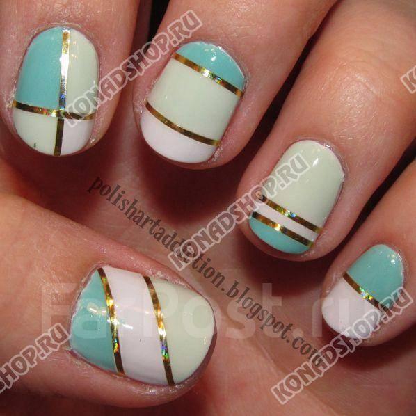 Как сделать полоски на ногтях лаком
