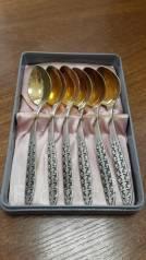 Ложки чайные серебро в позолоте. Оригинал