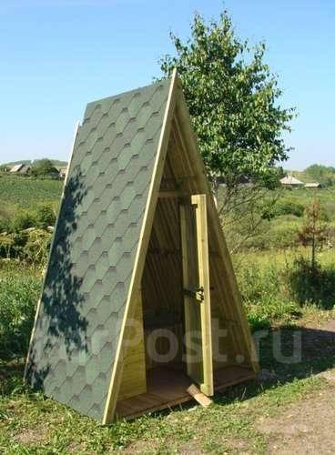 Как построить дачный туалет шалаш своими руками чертежи