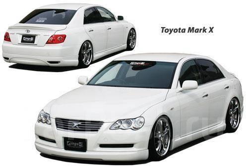 Накладка на бампер. Toyota Mark X, GRX120. Под заказ