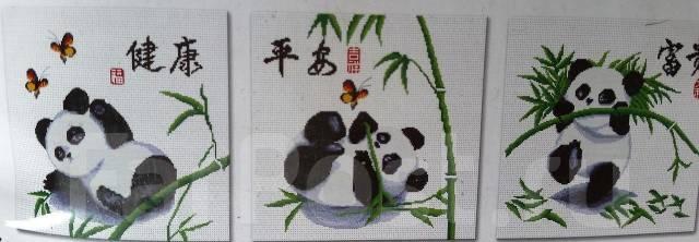 (вышивка) Панды 120*40