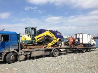 Доставка по РФ: экскаваторов, кранов, тракторов, катков, грузовиков.
