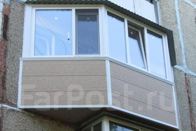 Остекление, расширение, утепление балкона, лоджии, натяжные .