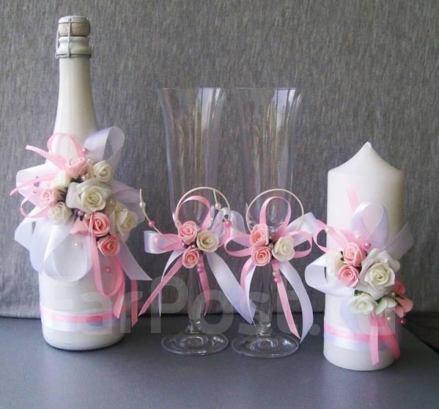 Шампанское и бокалы на свадьбу фото своими руками