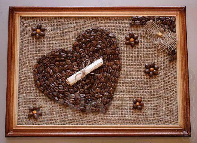 Сделать картину из кофейных зерен своими руками мастер класс
