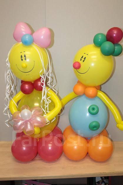 Фигура из шаров на день рождения своими руками