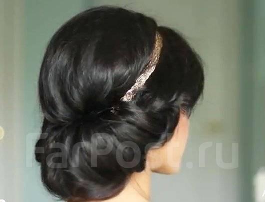 Фото греческой причёски с повязкой