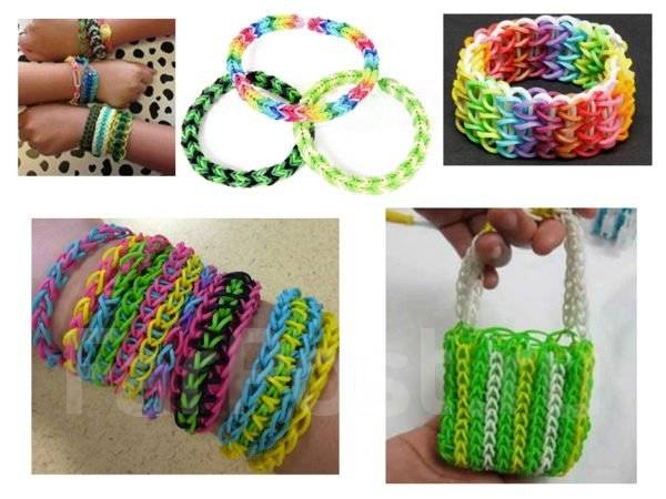 Плетение браслетов из резинок на простом станке