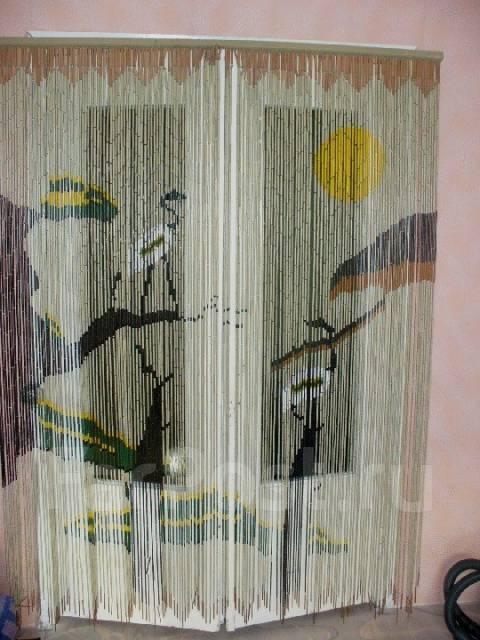 Штора из бамбуковых палочек. Надо собрать! (Мексика 1977 год)