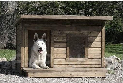 Теплые будки для собак своими руками