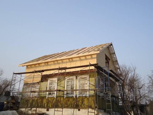 Монтаж фасадов.