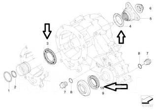Сальник раздатки. BMW 3-Series BMW X5, E53