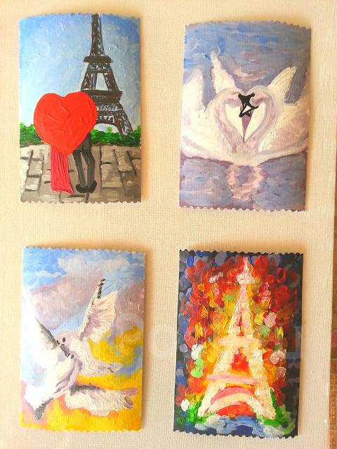Живописная открытка