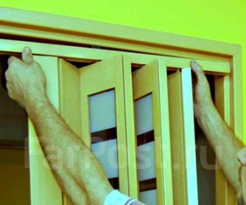 Складные двери межкомнатные гармошка своими руками