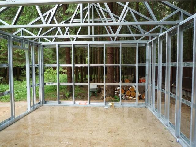 Строим гараж из металла