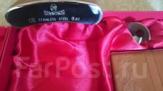 Продам винтажный набор Starwings Фляжка+аксессуары из стали и кожи