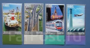 2012 Тайланд. Транспорт. 4 марки. Чистые