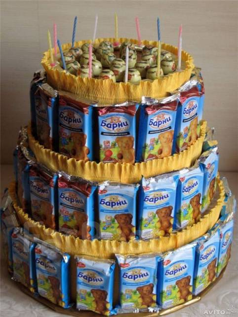 Торт из сока и барни своими руками пошагово фото