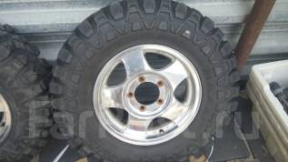 Продам хороший комплект колёс на грязевой резине на Jimny Escudo. 5.5x16 5x139.70 ET22 ЦО 110,0мм.