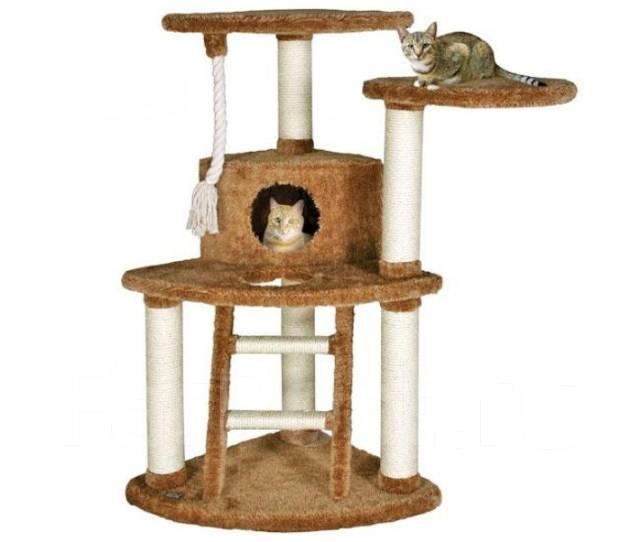 Кошачьи домики с когтеточкой