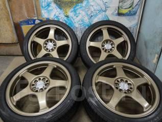 Продам Крутой Спорт Enkei Racing LINE+Лето Жир215/45R17Toyota, Subaru. 7.0x17 5x100.00 ET48