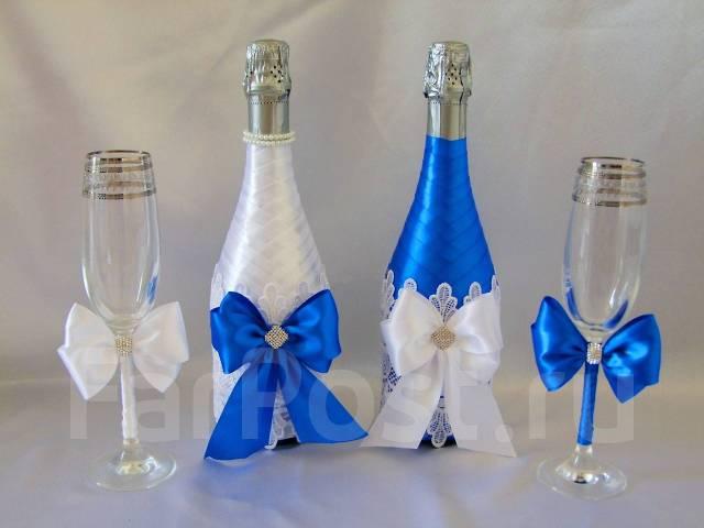 Украшения для шампанского на свадьбу своими руками