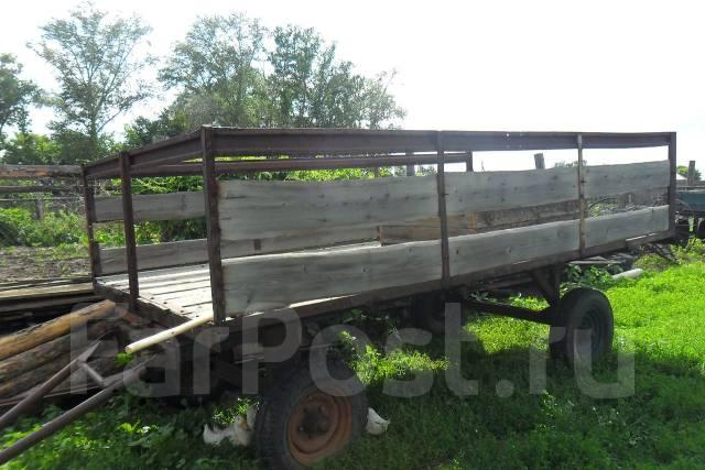 Самодельная тракторная телега для сена