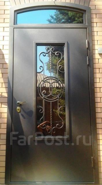 вторые входные двери в дом со стеклом
