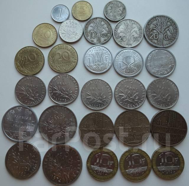 Франция и полинезия подборка монет