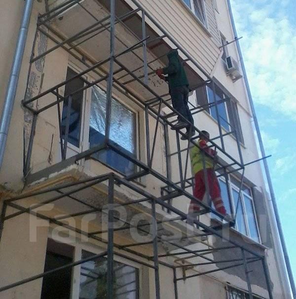 Пошаговая установка балкона на 5 этаже..