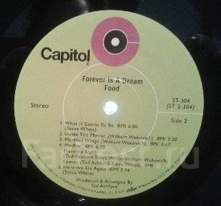 "Винил Food ""Forever is a dream"" 1969 USA"
