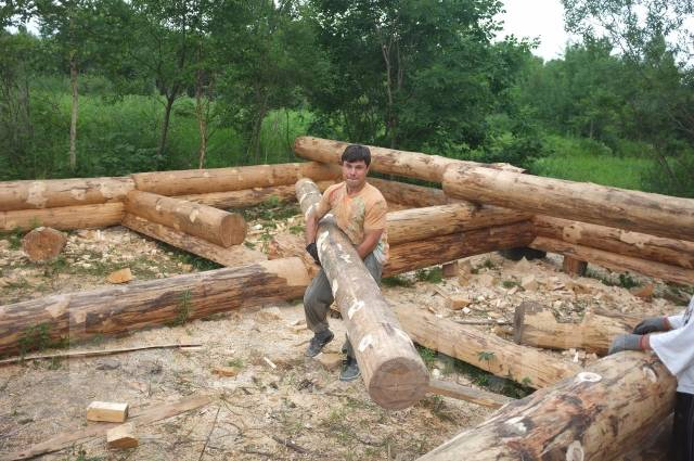 Строительство бань из кругляка своими руками 4
