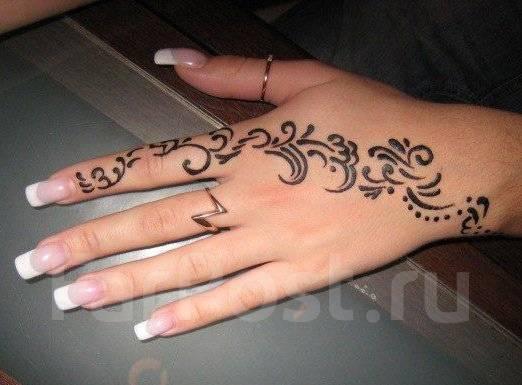 Как сделать татуировку с хной