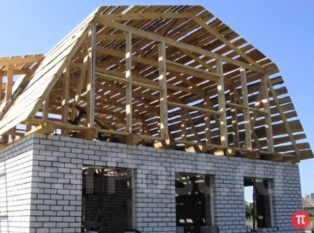 Строительство крыши дома фото