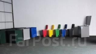 Пластиковый контейнер для мусора 100 литров.