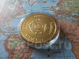 США. Большая красивая памятная настольная медаль Coast Guard.