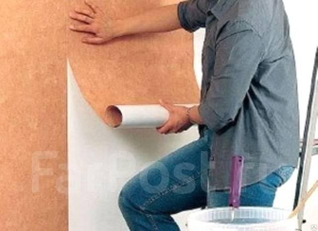 Наклейка флизелиновых обоев своими руками фото