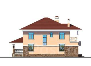 Проект дома из пеноблоков ПБ 2-214. 200-300 кв. м., 2 этажа, 10 комнат, бетон