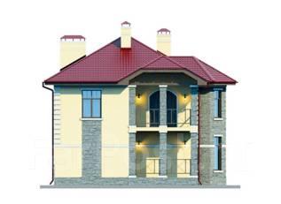 Проект дома из пеноблоков ПБ 2-178. 200-300 кв. м., 2 этажа, 7 комнат, бетон