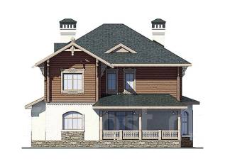Проект кирпичного дома 18-336К. более 500 кв. м., 2 этажа, 8 комнат, бетон