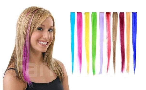 Как сделать пряди волос цветными