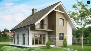 Проект дома из пеноблоков ПБ 3-165 строительство домов. 200-300 кв. м., 2 этажа, 9 комнат, бетон